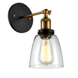 Ohr Lighting® Edison Simple Glass Wall Mount Sconce BULB IN