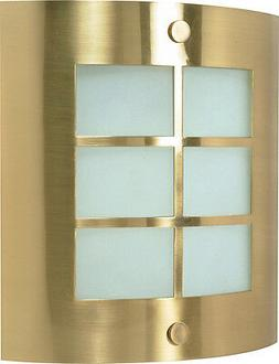 Energy Star Wall Sconce with Frosted Glass in Brushed Brass