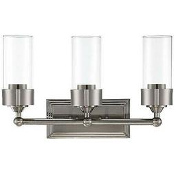 LUMINANCE ESQUIRE 3 LIGHT WALL SCONCE CLEAR GLASS MEDIUM BAS