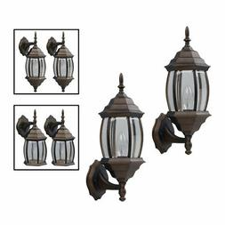 Outdoor Exterior Lantern Light Fixture Wall Sconce Twin Pack