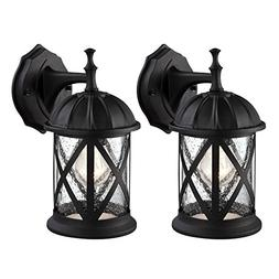 Outdoor Exterior Wall Lantern Light Fixture Sconce Twin Pack