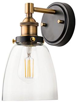 Fiorentino LED Industrial Wall Sconce – Antique Brass w/Cl