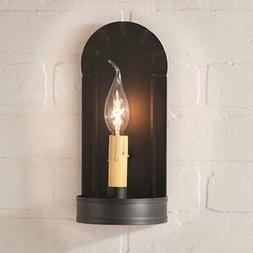 Fireplace Single Arm Wall Sconce in Kettle Black by Irvin's