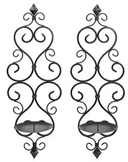 Zingz and Thingz Fleur-De-Lis Wall Sconce Duo