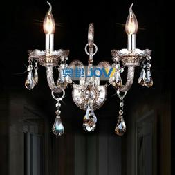 FREE SHIPPING wall lamp Cognac Clear Crystal wall Light Wall