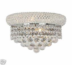 US BRAND French Empire 2 Light Chrome Finish Crystal Wall Sc