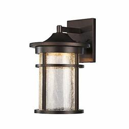 Frontier Transitional Led Rubbed Bronze Outdoor Wall Sconce