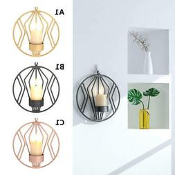 Geometric Candlestick Metal Wall Candle Holder Sconce for We