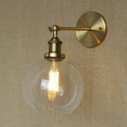 Globe Shade LED Wall Light Sconce with Clear Glass Wall Fixt
