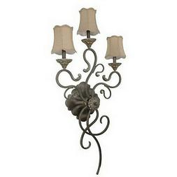 Gold Coast 3 Light Wall Sconce With Fabric Shades