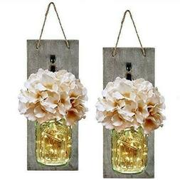 Handcrafted Hanging Mason Jar Sconce Rustic Home Wall Decor