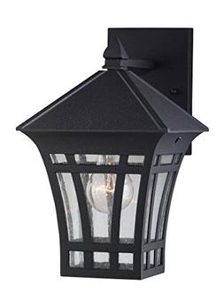 Herrington Outdoor Wall Lantern in Black - Size: 11.562 H x