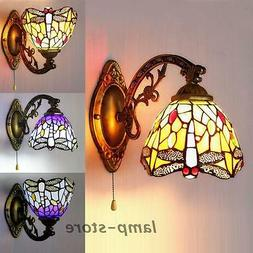 Hot Stained Glass Wall Sconce Single Lamp Tiffany Indoors Wa