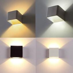 Hot US 6W LED Wall Lights Up/Down Home Lamp Sconce Cube Wall