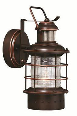 Hyannis Dualux 1 L Burnished Bronze Vaxcel Exterior Wall Sco