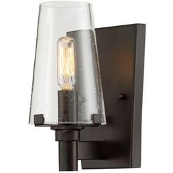 Designers Fountain Hyde Park 1 Light Wall Sconce, Vintage Br