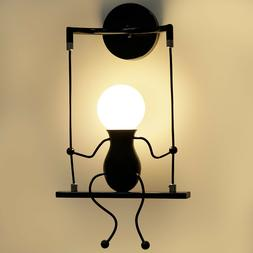 Indoor LED Wall Light Lamps Fixture Creative Little People W