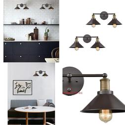 CLAXY Industrial 2-Light Wall Sconce Metal Shade Wall Lamp-2