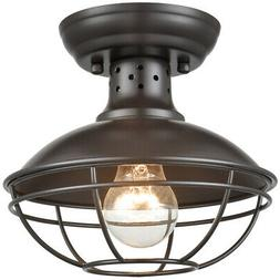 Industrial Antique Metal Chandelier Semi Flush Mount Ceiling