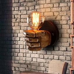 Industrial Clenched Hand Shape 1 Light Wall Sconce Light Bar