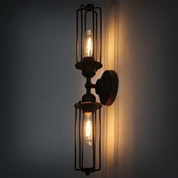 Industrial Double Head Black Flute Wall Light Candle Holder