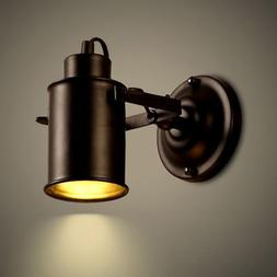 Industrial Loft Wall Sconce Wall Lights Lamp Black Metal 1-L