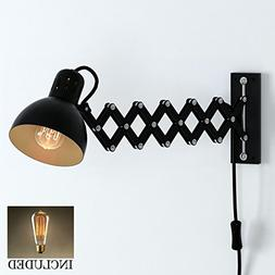 Industrial Look Adjustable Wall Reading Task Multi-Purpose L