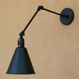 Industrial Nordic Swing Arm Adjustable Wall Light Sconce Fix