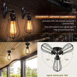 Industrial Outdoor Wall Light Sconce 2 Pcs Indoor Vintage Me