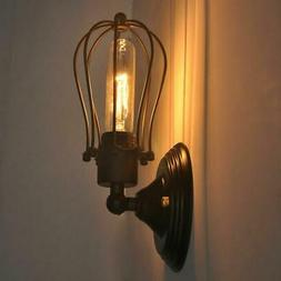 Industrial Retro Vintage Sconce Porch Wire Cage Wall Light B