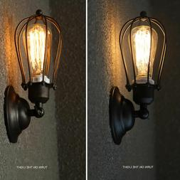 Industrial Retro Vintage Sconce Wire Cage Wall Light Metal F