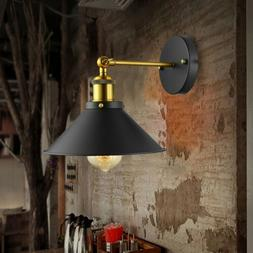 Industrial Retro Wall Light Sconce Lamp Conical Shade Loft A