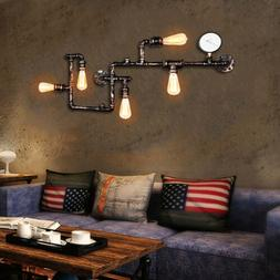 Industrial Steampunk Bronze Water Pipe Wall Lamp Wall Sconce