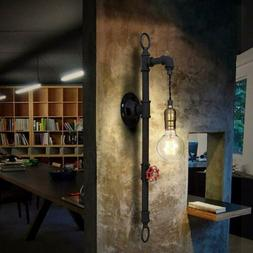 Industrial Steampunk Water Pipe Wall Lamp Antique Retro Barn