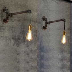 Industrial Steampunk Water Pipe Wall Lamp Sconce Exposed Art