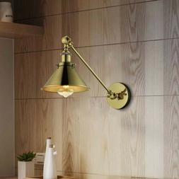 Industrial Swing Arm Wall Sconce Lamp Light Antique Brass Ad