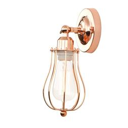 PERMO Industrial Vintage Metal Wire Cage Wall Sconce Lightin