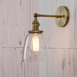 Permo Industrial Vintage Single Sconce With Oval Cone Clear