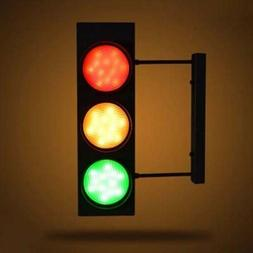 Industrial Vintage Traffic Light LED Wall Sconce Fixture wit