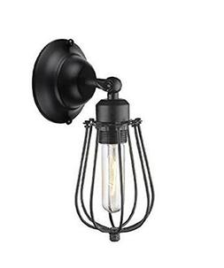 Lightess Industrial Vintage Wall Sconce Light Black Mini Wir
