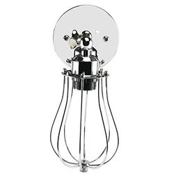 Lightess Industrial Vintage Wall Sconce Light Chrome Mini Wi