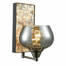 CLAXY Industrial Wall Light Glass Wall Sconce Lighting - Mos