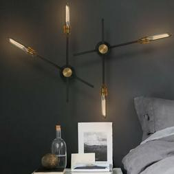 Industrial Wall Light Sconce Rotating Aisle Stair Wrought Ir