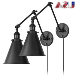 Industrial Wall Light with On/Off Switch Wall Sconce Plug-In