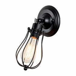 Industrial Wall Light, Adjustable Socket Rustic Metal Cage W