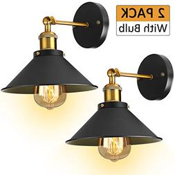 Industrial Wall Sconces Lights Fixture -  2 Pack With Bulb 3