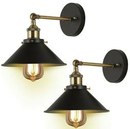 JACKYLED Vntage Black with Bronze Finish Arm Swing Wall Scon