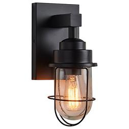 "Stone & Beam Jordan Industrial Wall Sconce With Bulb, 11""H,"