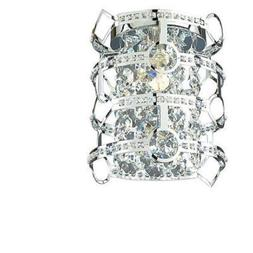 Style Selections Kentley 7-in W 1-Light Chrome Pocket Wall S