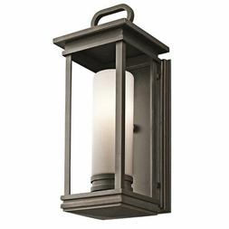 Kichler 49475RZ South Hope 1 Light Outdoor Wall in Rubbed Br